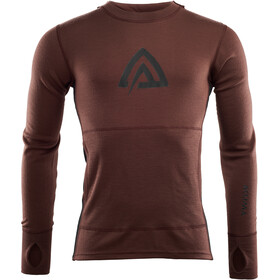 Aclima Warmwool Kapuzensweater Herren bitter chocolate/jet black